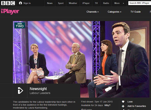 labour leader newsnight